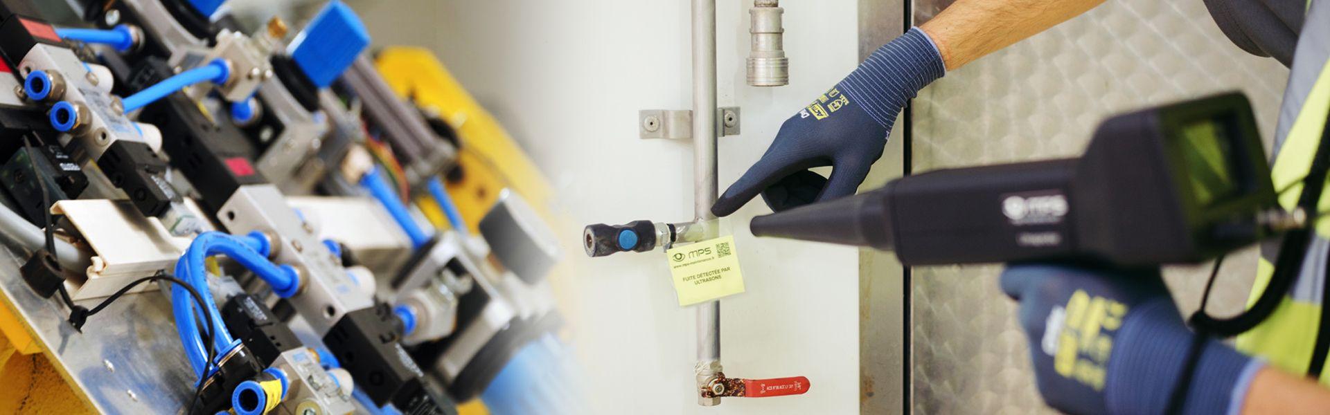 Recherche de fuites air comprimé gaz vapeur ultrasons
